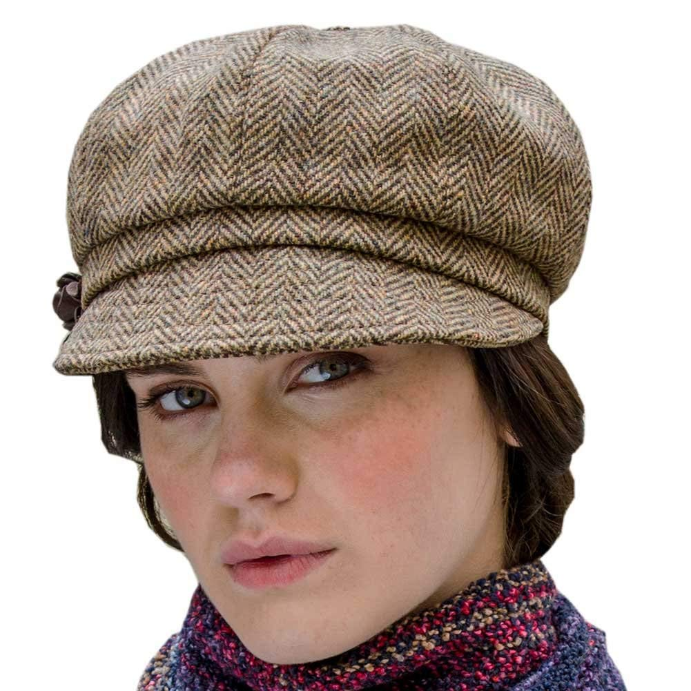 b0e624cce25 Get Quotations · Ladies Newsboy Tweed Hat - One Size