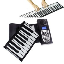 Portable Roll-up 61 Standard Keys Soft Keyboard Piano