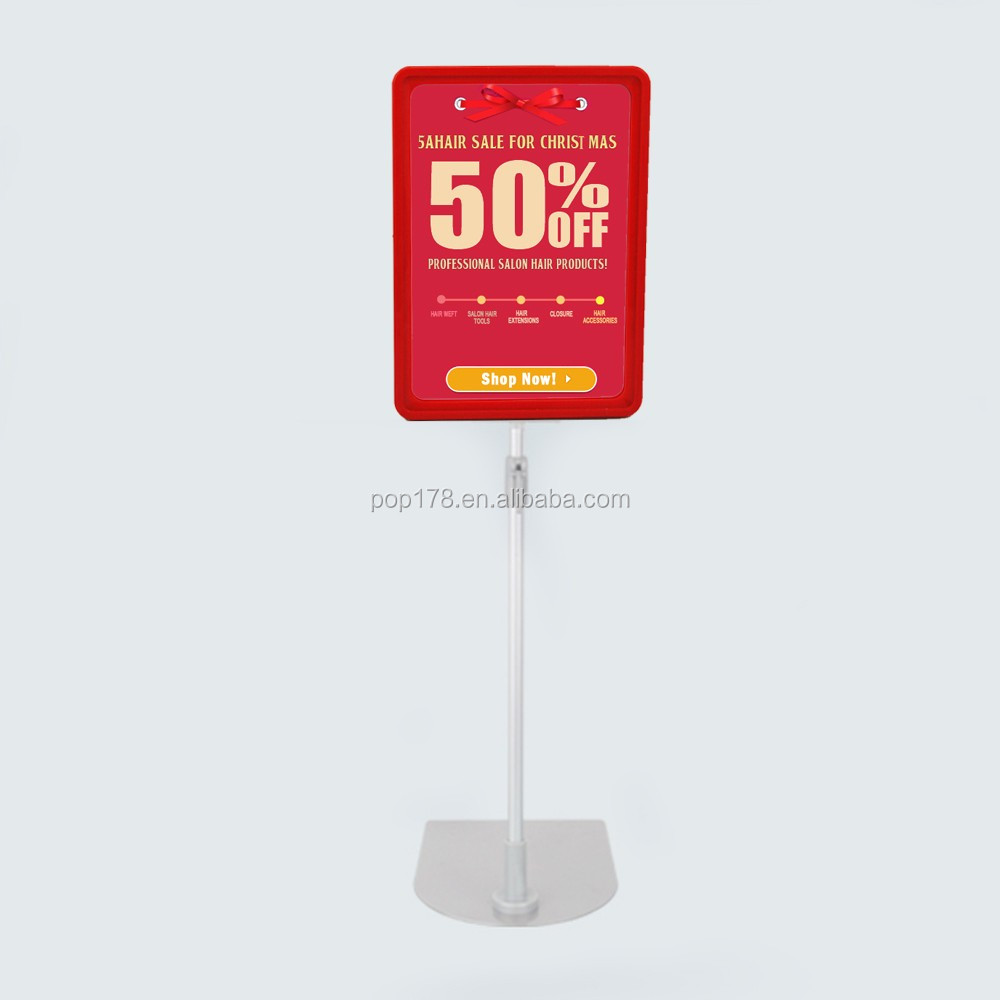Supermarket A4 Plastic Poster Frame Floor Stand Show Card Stands ...