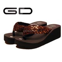 2014 new design strap glitter design flip flop slipper