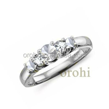 Newest 22k Solid White Gold Ring Natural Diamond Ring And White ...