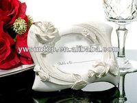 Elegant Rose Photo and Place Card Frame Favor bridal shower favor