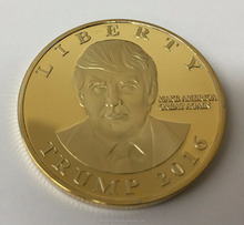 Custom Donald Trump USA Vrijheidsbeeld <span class=keywords><strong>Gold</strong></span> Uitdaging Coin