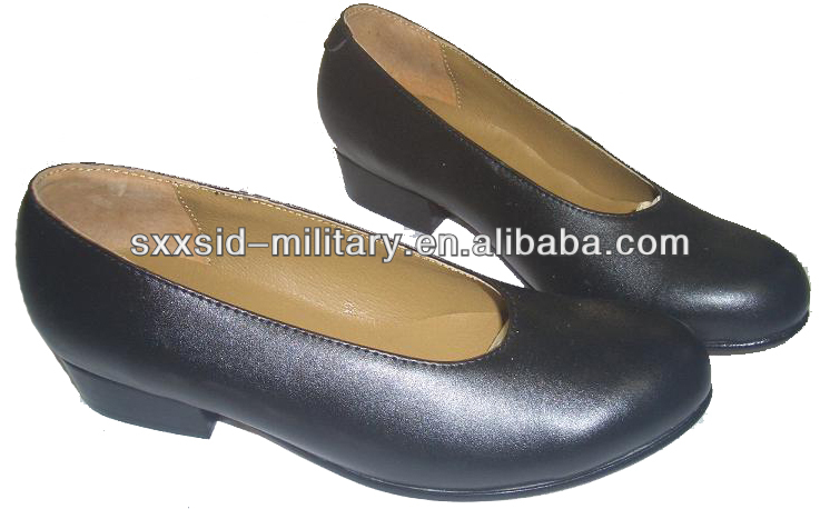 military dress shoes women army shoes with middle heel