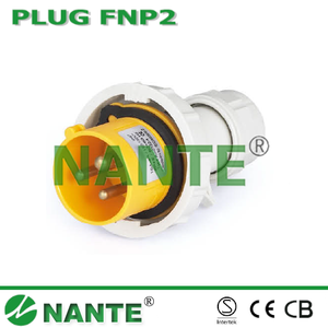 NANTE Industrial Plug and Socket 3P, 16A,32A, Waterproof IP67 110V plug for industrial FNP2-013F-4