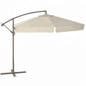 White color six steel ribs outdoor popular umbrella for shading