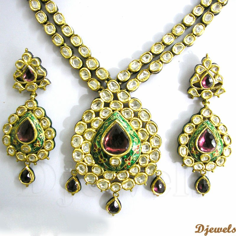 Kundan Polki Necklace Sets22k Gold Kundan Polki Necklace Sets