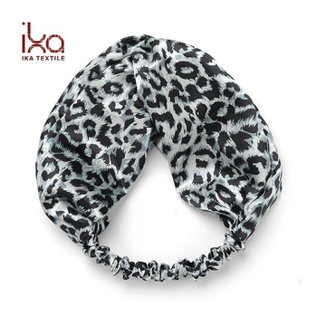 Boho Headbands for Women Leopard Printed Crisscross Elastic Head Wrap  Twisted Cute Hair Accessories 42602bcc3fa