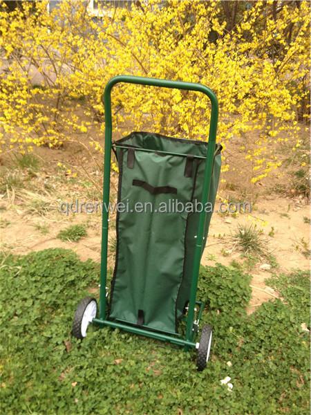 Lawn Garden Leaf Cart With Wheels Two Wheel Garden Cart