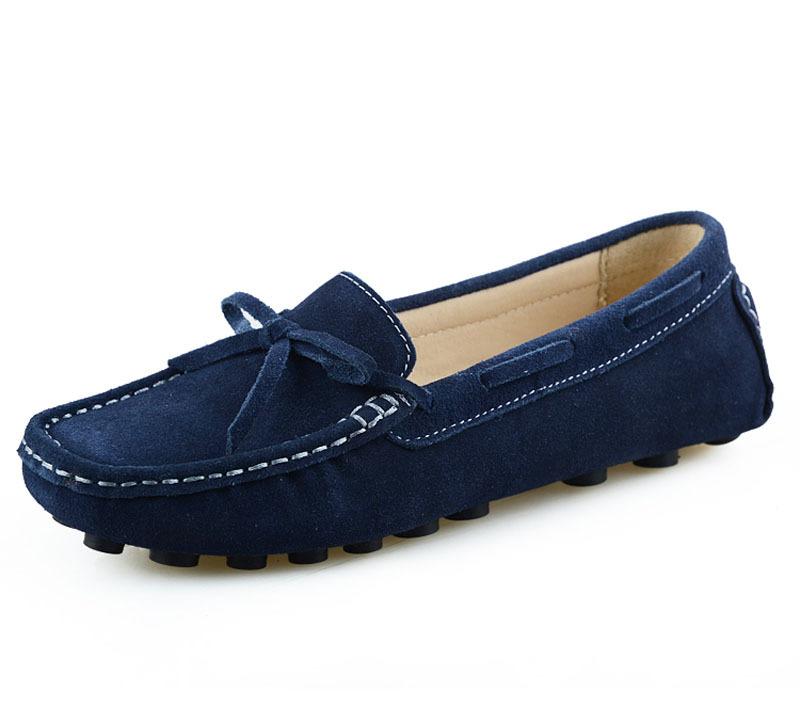 Ladies Leather Loafers Slip
