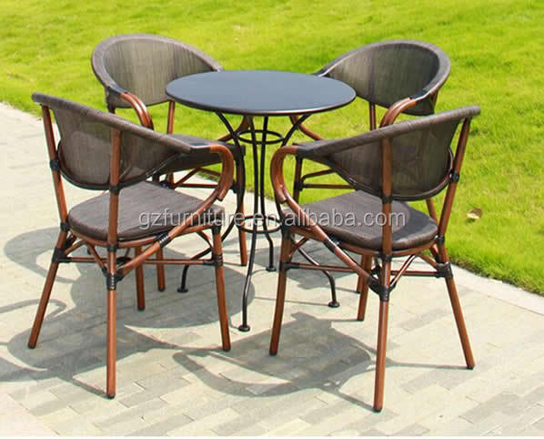Muebles de patio al aire libre sillas de comedor con mesa-Conjuntos ...