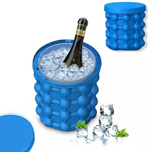 custom cheap silicone ice bucket ice cube maker genie