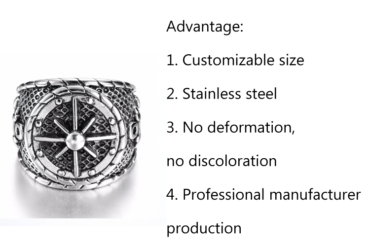 Custom Champion Ring New Design Fashion Style Stainless Steel Men's Bike Ring