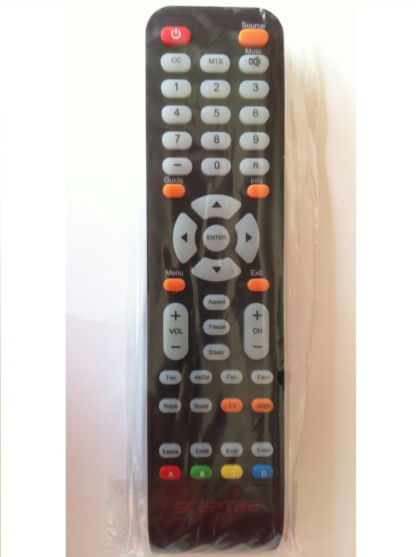 Brand New SCEPTRE LCD LED DVD COMB TV REMOTE for SCEPTRE E245BD-FHDU E246BD-FHD E325BD-HDW E325-E328BV E328BV-FMDC E325BV-FMDU E325BV-HDH E326 E325BD-HD E243BD-FHD DVD COMB TV