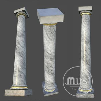 Artificial Marble Carved White Columns Pillars