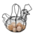 Farmhouse Style Black Metal Wire Chicken Design Egg Basket / Decorative Kitchen Storage Baskets