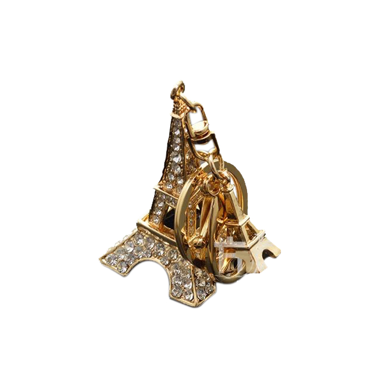 Wholesale cheap Paris souvenir 3d eiffel tower metal keychain