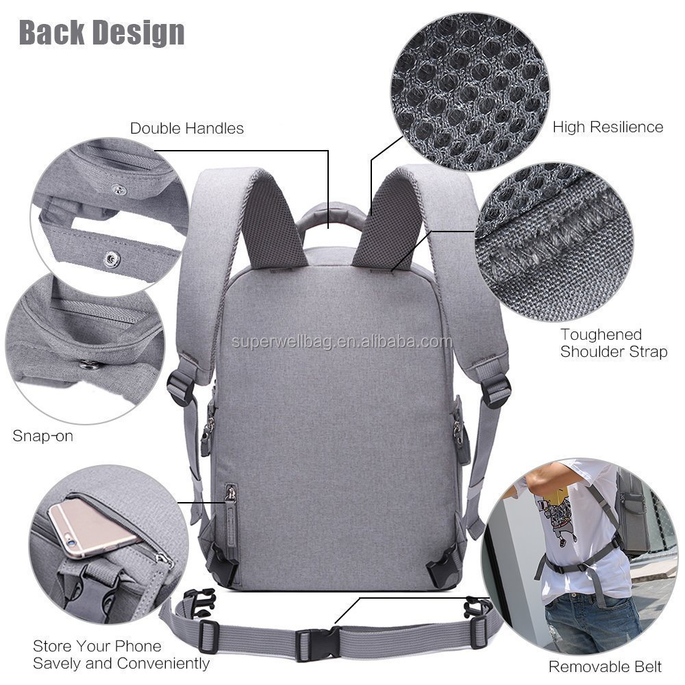 Multifunction Camera Bag Travel Outdoor Tablet Laptop Bag Durable Camera Backpack
