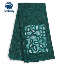 Bestway रिबन कढ़ाई Sequined फ्रेंच <span class=keywords><strong>Tulle</strong></span> फीता