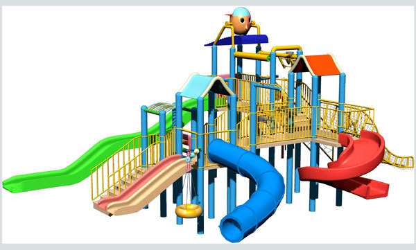 Theme Park Castle Water House Equipment For Sales For Kids And ...