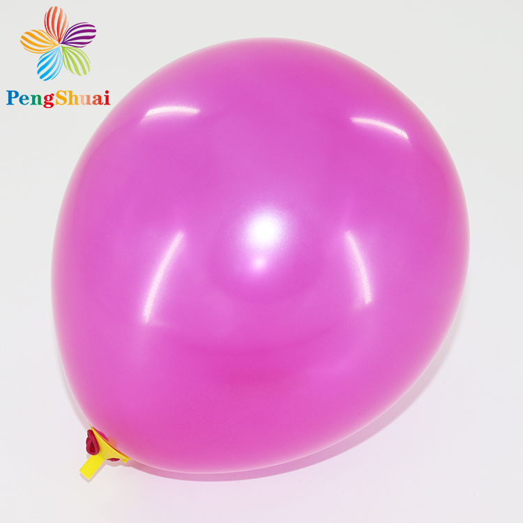 12inch round inflatable pearl metallic latex air balloons