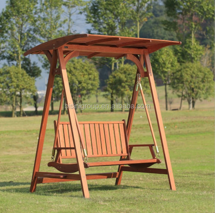 2 seat swing chair wooden hanging chair outdoor rocking chair bf10 w132 b - Rocking chair jardin ...