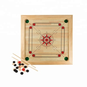 Carrom Board Game Classic Strike and Pocket Table Game with Cue Sticks, Coins King and Striker for Adults, Kids, Boys and Girl