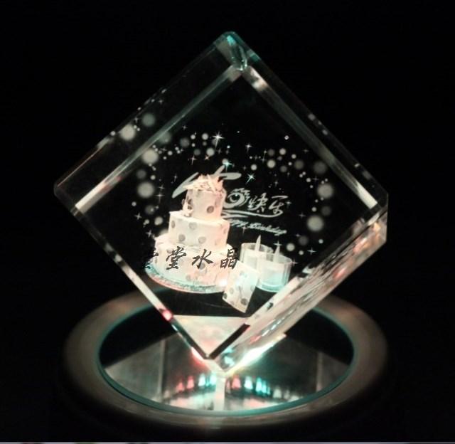 Творческий подарок на день рождения пользовательских кристалл гравировка кристалл надписи 3D куб подарок на день рождения
