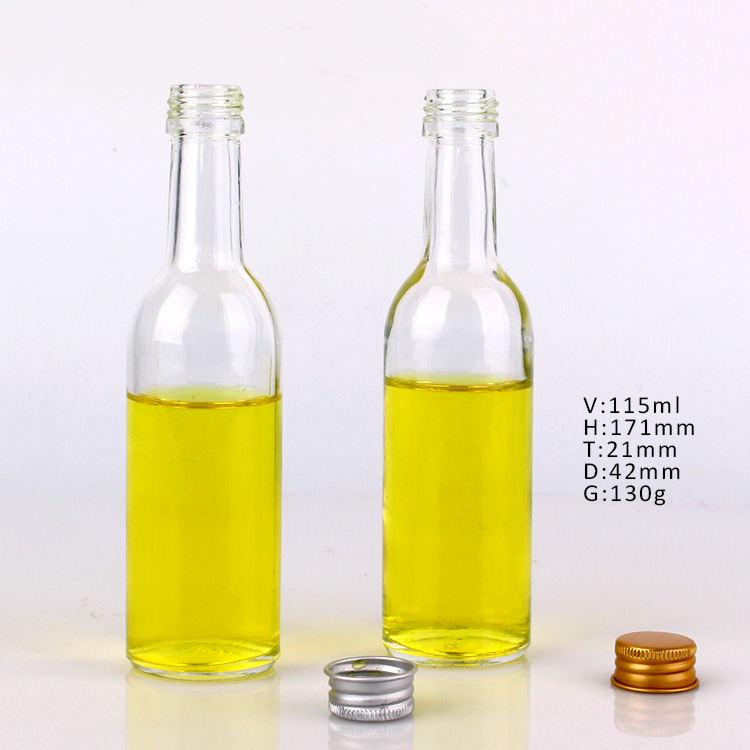 115ml 190ml hotsale cheap food grade glass bottle with plastic lids