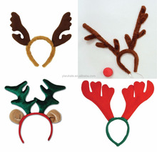 Xmas Kids Adult Christmas Headbands Hat Fancy Dress Hat Reindeer Antlers Santa Headband KA1401