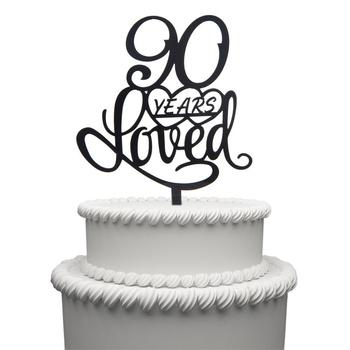 Surprising 90 Years Loved Cake Topper For Birthday 90Th Wedding Anniversary Personalised Birthday Cards Veneteletsinfo
