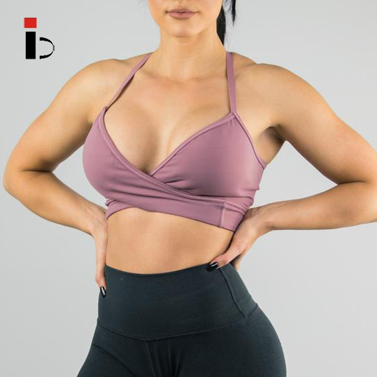 Best Hot Sex Women Breathable Mesh Insert Gym Workout Sports Bra