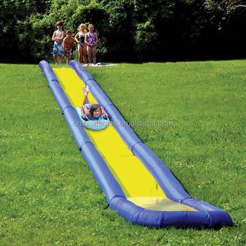 long backyard inflatable water slide