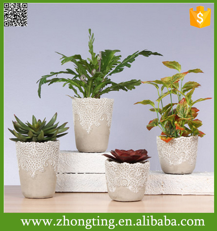 Beautiful modern Home decorative cheap mini ceramic cement planter