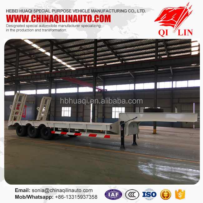 Max payload 60 tons low bed semi trailer with ABS braking system
