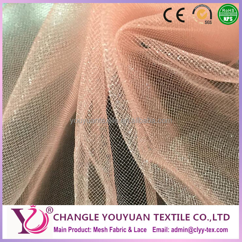 Shiny Glitter bright Tulle Mesh Netting Fabric Material