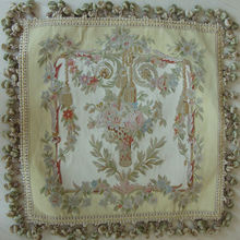 pure silk handknotted aubusson cushion cover