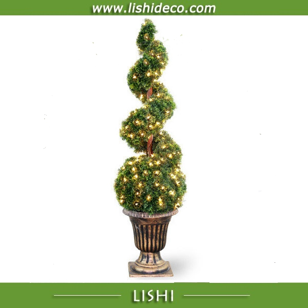 Artifical Cypress Spira Tree for Wedding Decoration