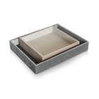 rectangle set 2 velvet fabric serving jewelry tray