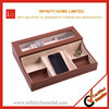 Logo Embossed PU Leather Jewelry Organizer Case and Watch Box