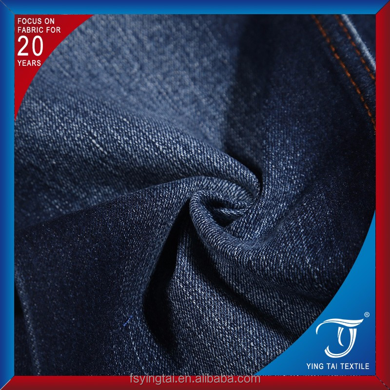 indigo color stretch denim fabric for jeans garment new fashion price cheap