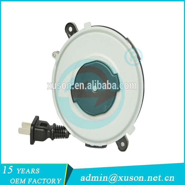 small power cord extension plastic retractable electrical cord reel