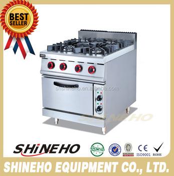Cocina Industrial 6 Quemador De Gas De Cocina Con Horno Eléctrico