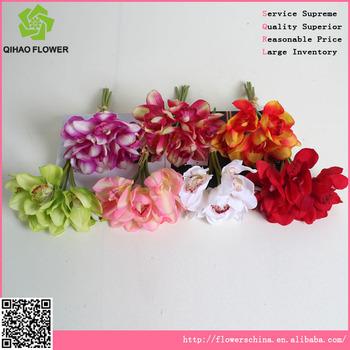 Silk flower making artificial flower cheap fabric orchid bouquet silk flower making artificial flower cheap fabric orchid bouquet mightylinksfo