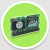 IDE Flash module 44pin 2gb dom vertical for industrial panel pc