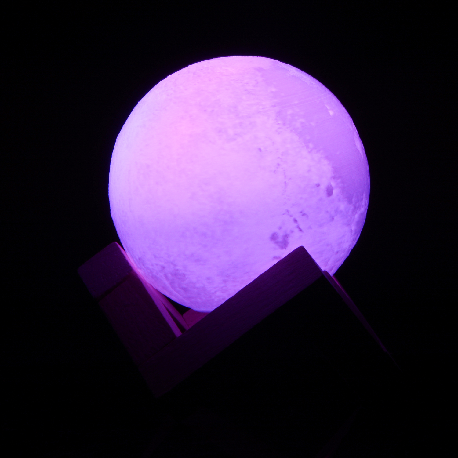 Rechargeable Night Light multi-color 3D Print Moon Lamp color Change Touch Switch Bedroom Bookcase Night light Home Decor