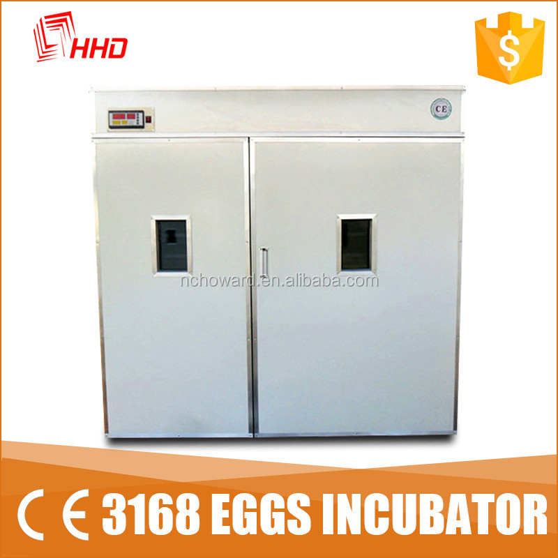 3168 eggs CE approved commercial cheap runde incubators for sale in 2017