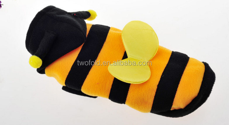 Warm Polar Fleece Winter L Dog Apparel Cosy Bee Costume Pet Puppy Cat  Clothes Soft - Buy Bee Dog Apparel,Bee Dog Apparel,Bee Dog Apparel Product  on