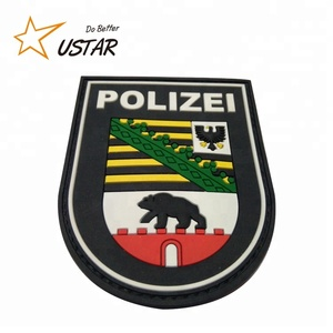 Custom Rubber PVC Label Patch 3D Custom Patch Logo Embossed PVC Patches With Hook And Loop