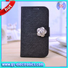 book pattern flip leather card slots stand case for Samsung Galaxy S5 i9600 fancy flower cell phones protective cases